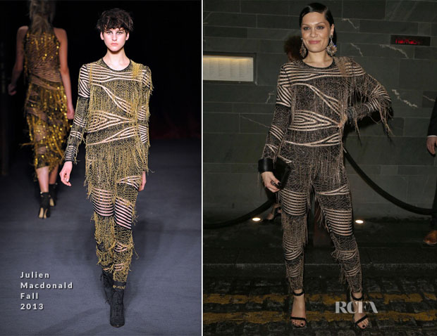 Jessie J In Julien Macdonald - Universal Music Brit Awards After-Party
