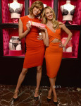 Karlie Kloss In Talbot Runhof & Candice Swanepoel In Robert Rodriguez - Victoria's Secret Angels Celebrate Bombshell's Day