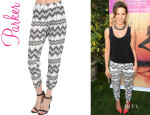 Kate Beckinsale's Parker 'Devlin' Tapered Zigzag Pants