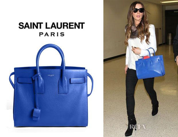 Kate Beckinsale's Saint Laurent 'Small Sac de Jour' Leather Tote