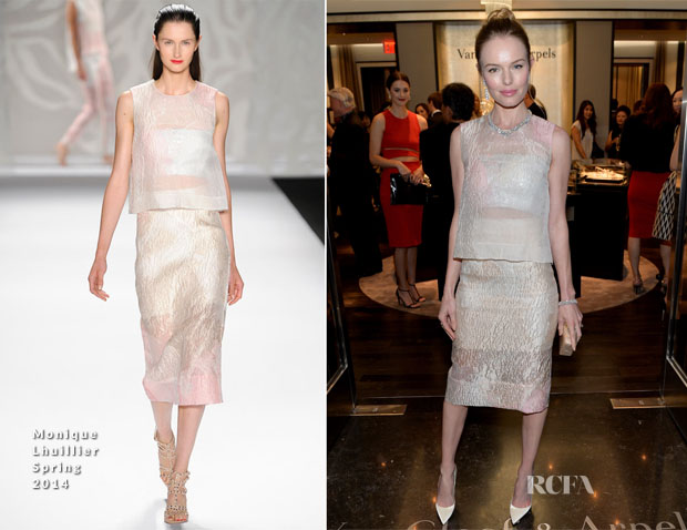 Kate Bosworth In Monique Lhuillier - Van Cleef & Arpels South Coast Plaza Boutique Re-Design Celebration