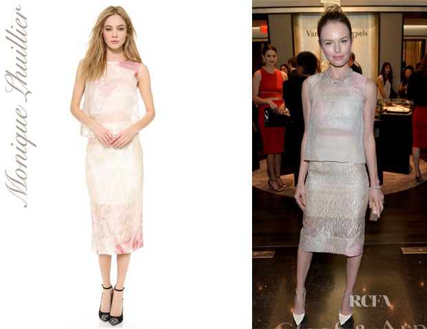 Kate Bosworth's Monique Lhuillier Crinkled Shell Top