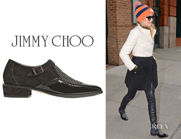 Kate Hudson's Jimmy Choo 'Bay' Studded Leather Shoes