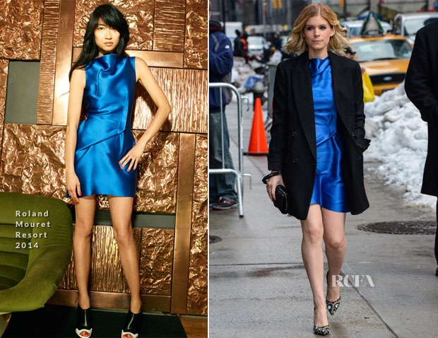 Kate Mara In Roland Mouret Resort 2014 - Late Show With David Letterman