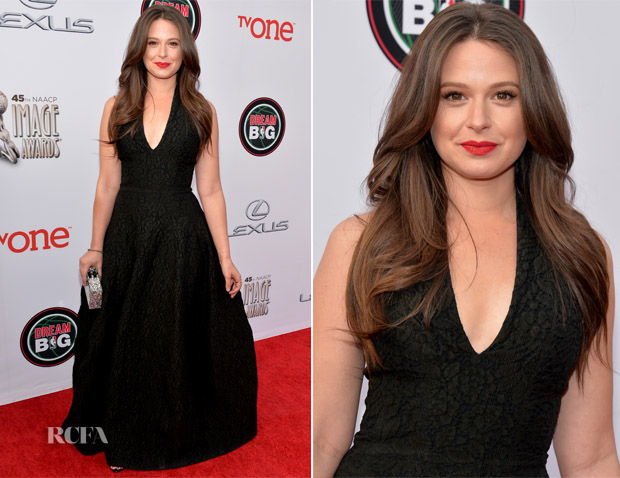 Katie Lowes In Halston Heritage - NAACP Image Awards 2014