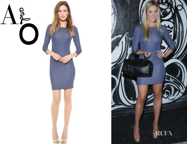Katrina Bowden's Alice + Olivia 'Kal' Open Back Dress