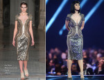 Katy Perry In Julien Macdonald - Brit Awards 2014