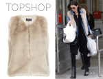 Kendall Jenner's Topshop Boxy Fur Gilet