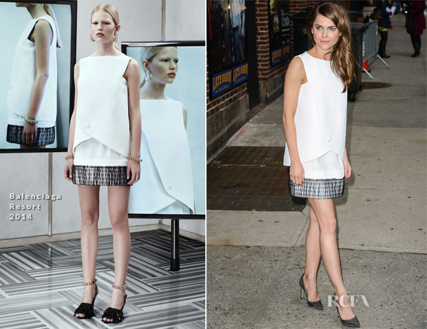 Keri Russell In Balenciaga - Late Night with David Letterman