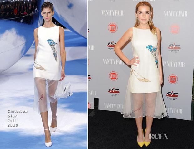 Kiernan Shipka In Christian Dior - Vanity Fair and FIAT Celebration Of 'Young Hollywood'