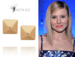 Kristen Bell's Anita Ko 'Spike' Rose Gold Stud Earrings