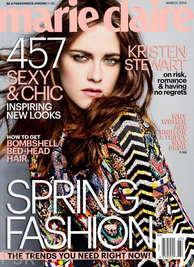 Kristen Stewart For Marie Claire US March 2014