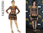 Kristin Wiig's Valentino Arabesque Embroidery Dress