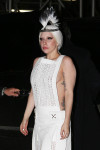 Lady Gaga in Alexander Wang with Erickson Beamon feather mohawk