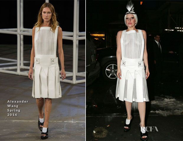 Lady Gaga In Alexander Wang - Departing The Late Show Starring Jimmy Fallon