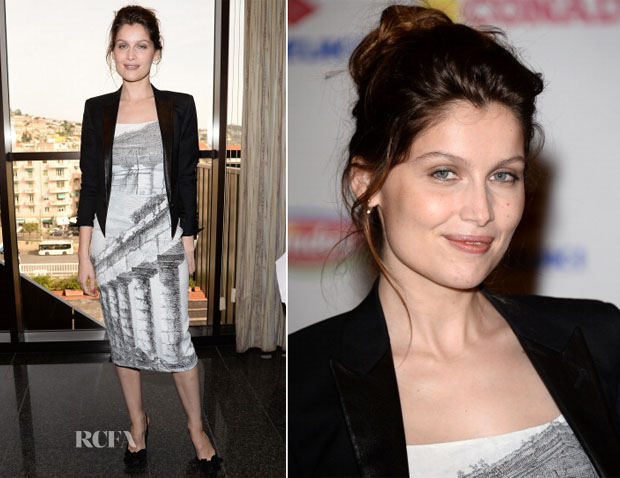 Laetitia Casta In Dolce & Gabbana - 64th Festival di Sanremo 2014 Photocall