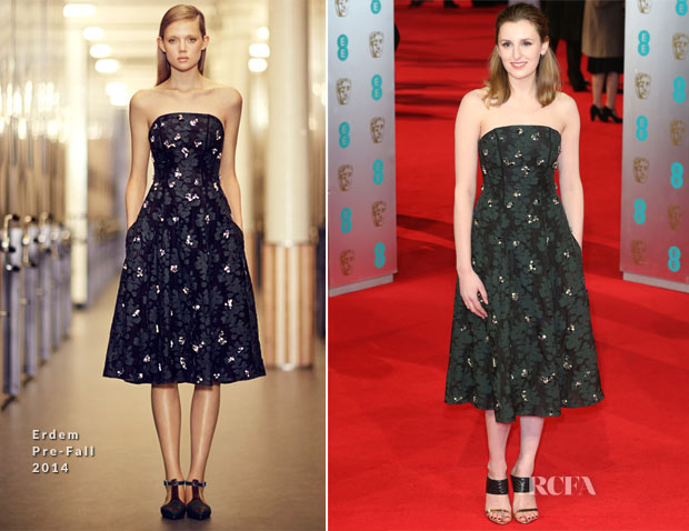 Laura Carmichael In Erdem - 2014 BAFTAs