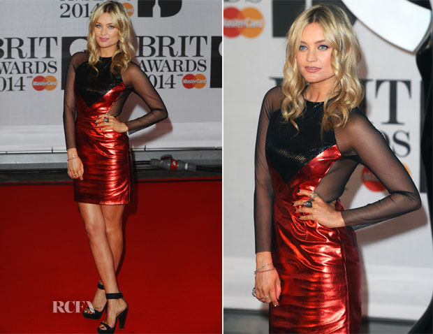 Laura Whitmore In Hasan Hejazi - Brit Awards 2014