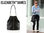 Lauren Conrad's Elizabeth and James Sling Textured-Leather Backpack