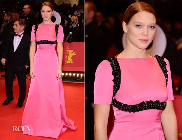 Lea Seydoux In Prada - 'The Grand Budapest Hotel' Berlinale Film Festival Premiere