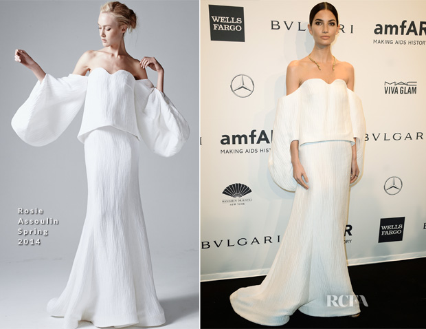 Lily Aldridge In Rosie Assoulin -  2014 amfAR New York Gala 2