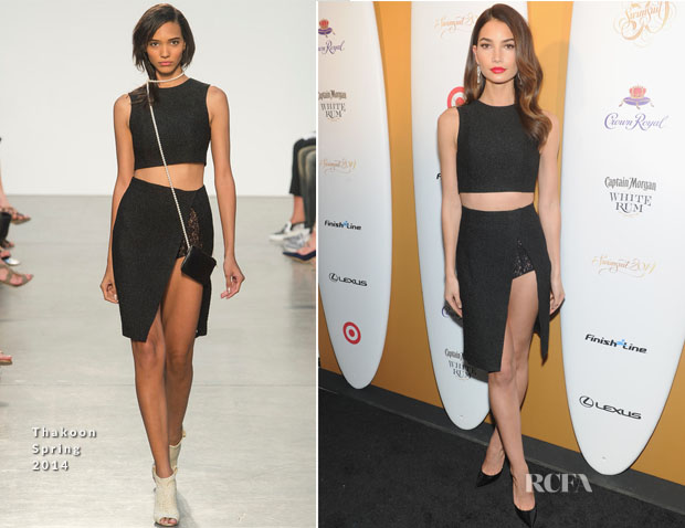 Lily Aldridge In Thakoon Spring 2014 - Sports Illustrated Swimsuit Celebrates 50 Years Of Swim In NYC