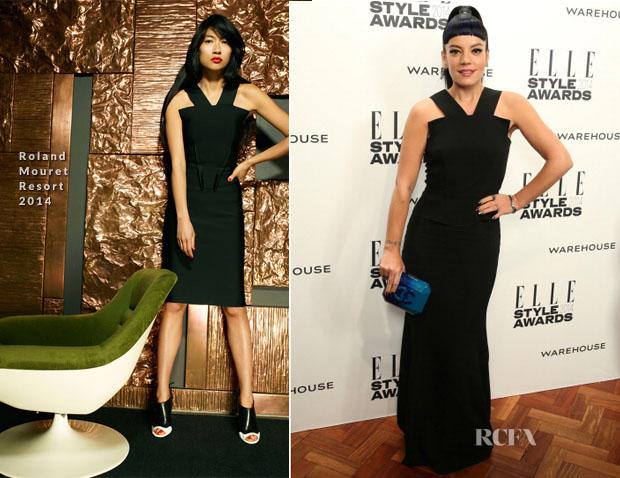 Lily Allen In Roland Mouret - Elle Style Awards 2014
