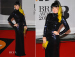 Lily Allen In Vintage Norrell - Brit Awards 2014