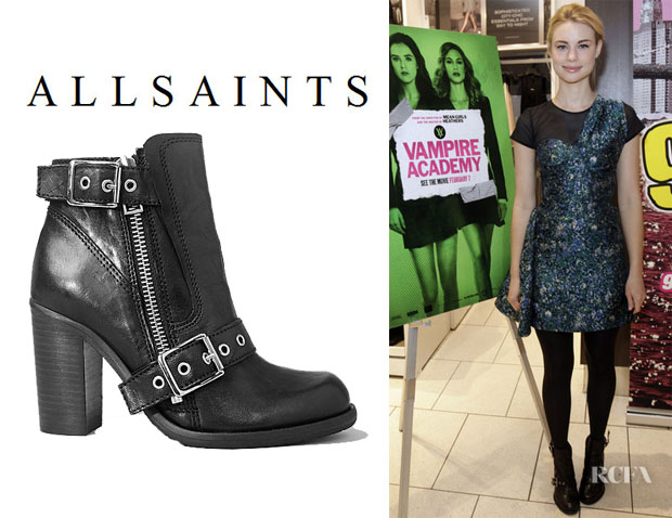 Lucy Fry's All Saints 'New Jules' Heel Boots