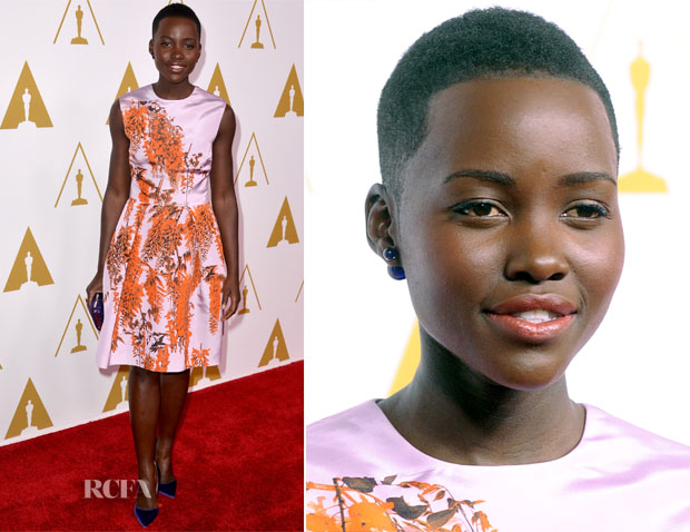 Lupita Nyong'o In Chrisitan Dior - 86th Academy Awards Nominees Luncheon