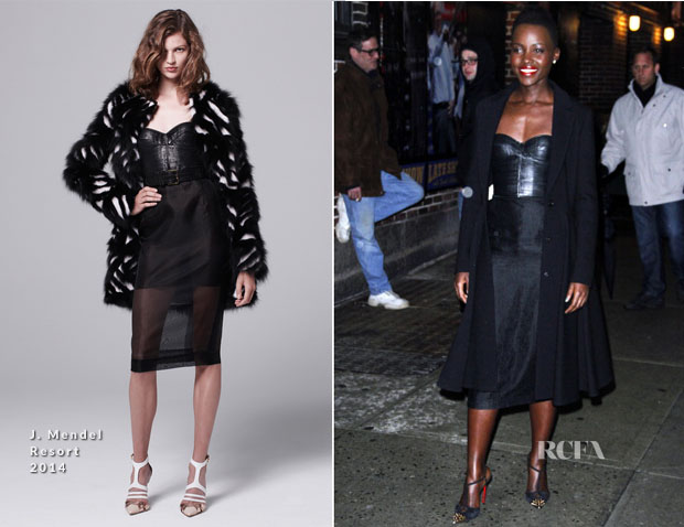 Lupita Nyong'o  In J Mendel - Late Show with David Letterman