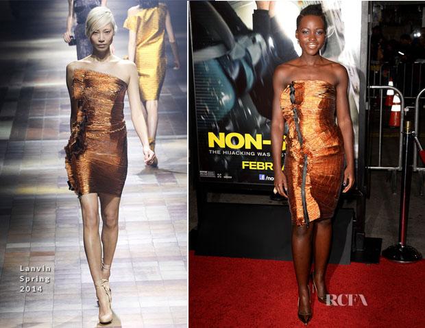 Lupita Nyong'o In Lanvin - 'Non-Stop' LA Premiere