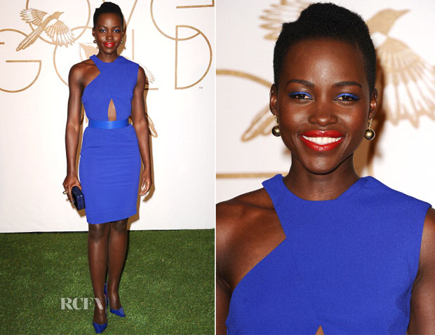 Lupita Nyong'o In Stella McCartney - LoveGold Honors Academy Award Nominee Lupita Nyong'o