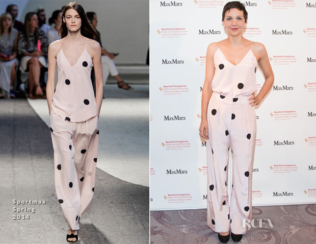 Maggie Gyllenhaal In Sportmax S14 – 4th Annual Plates for Pediatrics Dinner