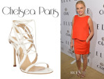 Malin Akerman's Chelsea Paris Snakeskin Sosa Sandals