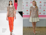 Maria Sharapova In Monique Lhuillier - Sugarpova Toppings For Pinkberry Unveiling