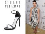 Mary Elizabeth Winstead's Stuart Weitzman 'Nudist' Ankle-Strap Sandals