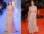Melanie Laurent In Elie Saab Couture - 'Aloft' Berlin Film Festival Premiere