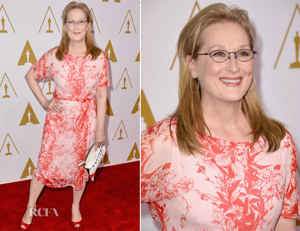 Meryl Streep In Max Mara - 86th Academy Awards Nominees Luncheon