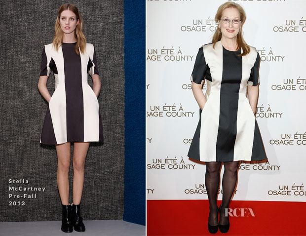 Meryl Streep In Stella McCartney - 'August  Osage County' Paris Premiere