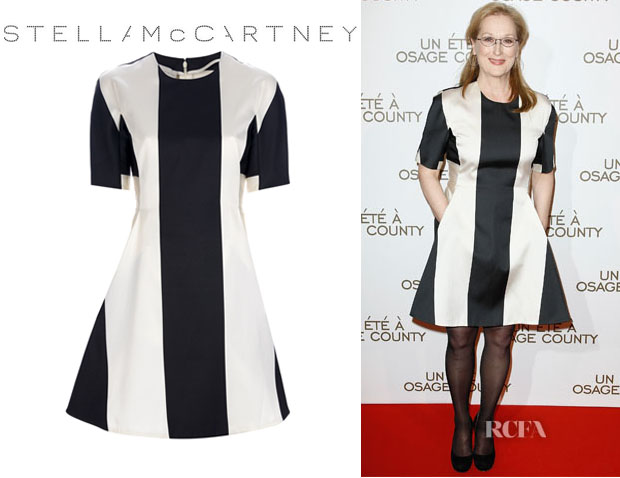 Meryl Streep's Stella McCartney Bold Striped A-Line Dress