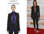 Meta Golding's Robert Rodriguez Leather-Trim Tuxedo Jacket