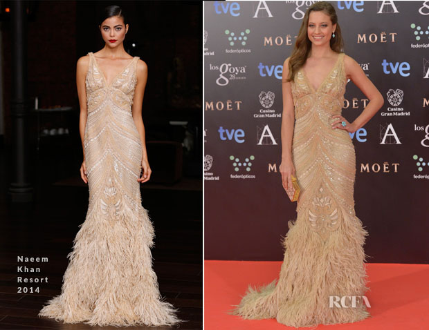 Michelle Jenner In Naeem Khan - Goya Cinema Awards 2014