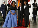 Michelle Obama In Carolina Herrera - White House State Dinner