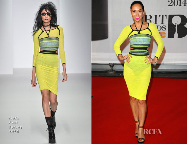 Myleene Klass In Mark Fast - Brit Awards 2014