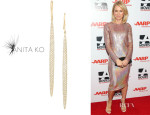 Naomi Watts' Anita Ko 'Dagger' Gold Diamond Earrings