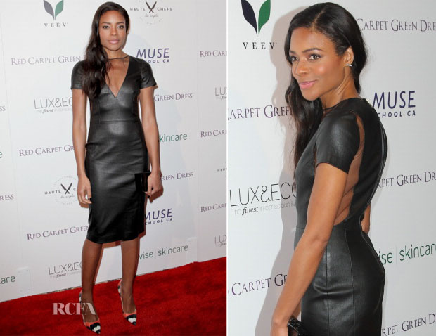 Naomie Harris In Altuzarra - Red Carpet Green Dress Cocktail Party