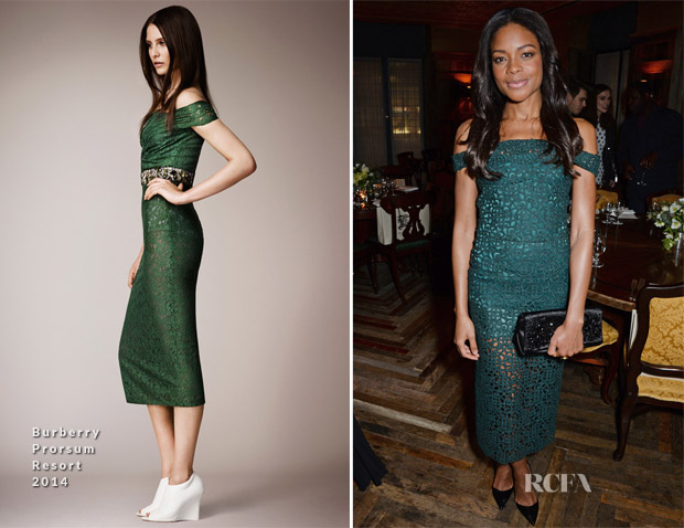 Naomie Harris In Burberry Prorsum - Harvey Weinstein's Pre-BAFTA Dinner