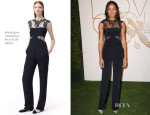 Naomie Harris In Monique Lhuillier - LoveGold Honors Academy Award Nominee Lupita Nyong'o