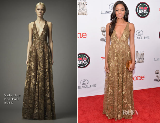 Naomie Harris In Valentino Pre-Fall - NAACP Awards 2014
